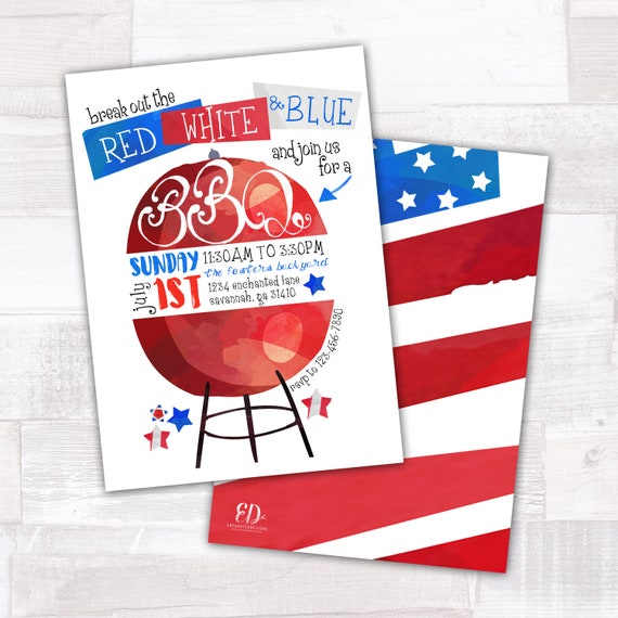 fourth of july party invite 4th of july party 4th of july etsy