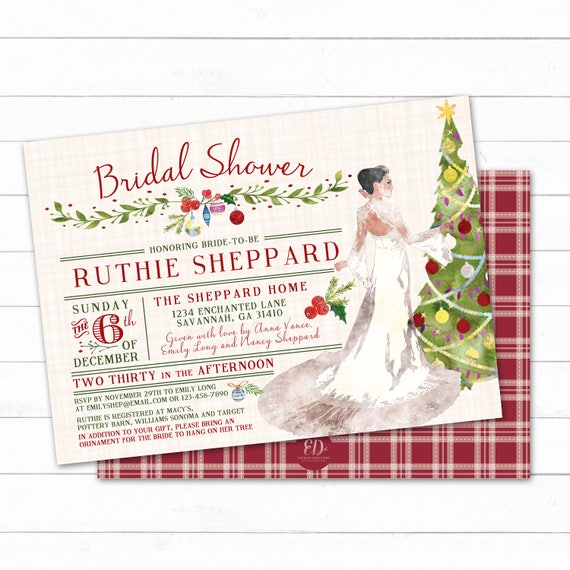 image 0 - Holiday Bridal Shower Invitation Christmas Ornament Shower Etsy