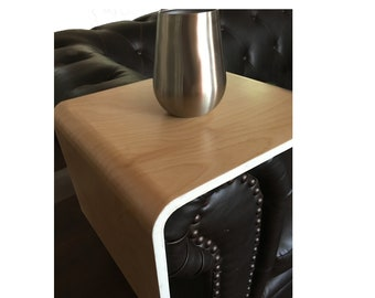 Modern Bent Plywood Couch Arm Wrap - Sofa Table - Couch Arm Table - Free Shipping