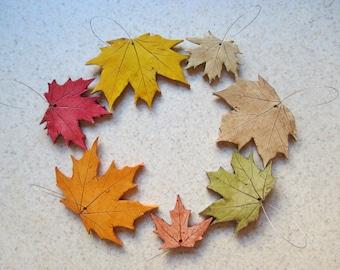 fall leaf ornaments, fall wedding favors, OOAK teacher gift, OOAK Christmas ornament, custom party favors, fall wedding decorations