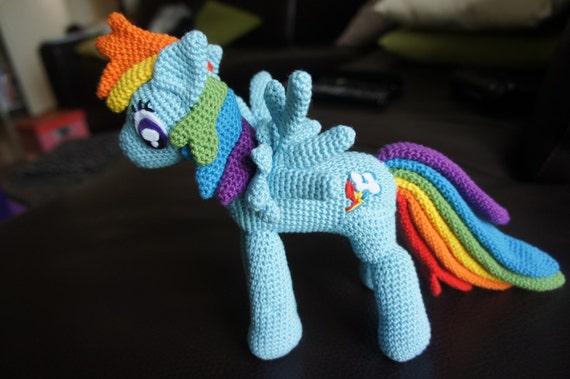 Häkeln von My LIttle Pony Rainbow Dash Amigurumi Plüsch   Etsy