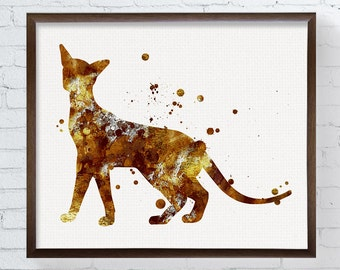 Siamese Cat Art, Siamese Cat Painting, Siamese Cat Print, Watercolor Siamese Cat, Siamese Cat Wall Decor, Cat Lover Gifts, Cat Wall Art