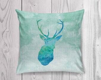 Deer Pillow Case, Deer Pillow Cover, Deer Throw Pillow, Animal Pillow Case, Woodland Pillow, Woodland Nursery, Cabin Decor, Deer Cushion