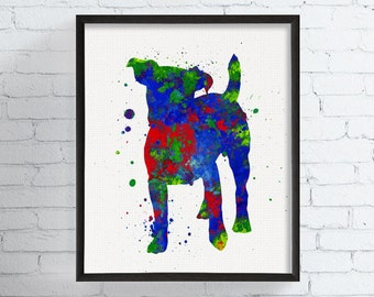 Jack Russell Art, Jack Russell Print, Jack Russell Watercolor, Jack Russell Wall Art, Jack Russell Gifts, Dog Lover Gift, Watercolor Dog Art