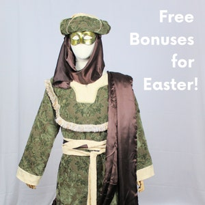 Easter Costume for religious Easter play; He is risen pageant scripts and costumes