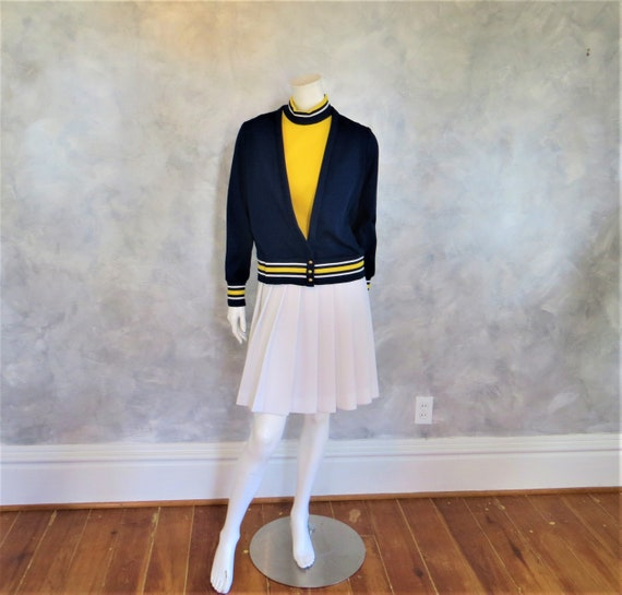 70's Dress/Vintage Versatile Knit Collegiate Style