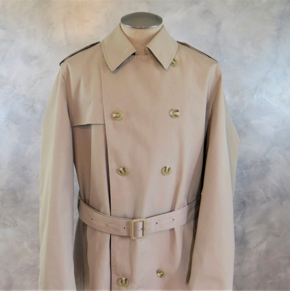 Vintage Men's Trench Coat 42 Long/Double Breasted