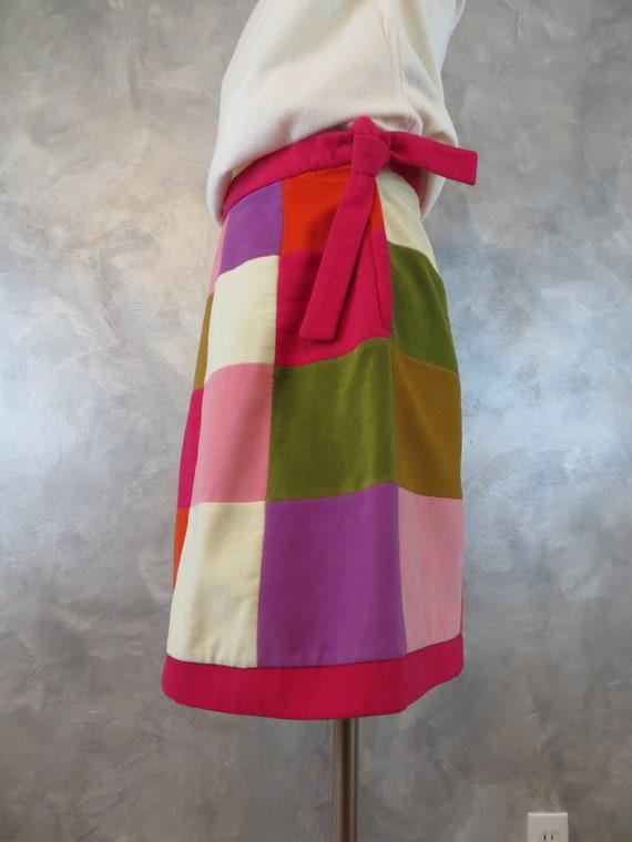 Vintage 70's Patchwork Miniskirt/Winter weight ski