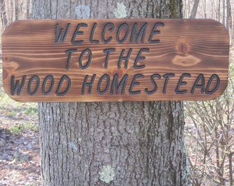Personalized Wood Sign, Welcome Sign, Custom Sign, Handmade Welcome Sign,  Indoor - Outdoor sign. Yard Sign, House Sign