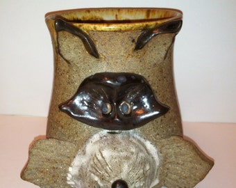 Handthrown Pottery Raccoon Mug Catalpa Pottery