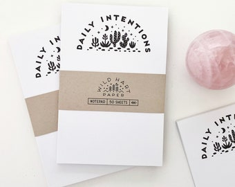 Daily Intentions Notepad