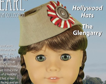 L&P #2021: Glengarry Hat and Easy Ribbon Cockade Pattern for 18 inch dolls — vintage style and unique, faux-molded hat construction