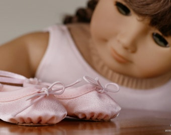 L&P #1075: Ballet Slippers Pattern for 18 Inch Dolls — ultra-realistic dance shoes that are easy to make too!