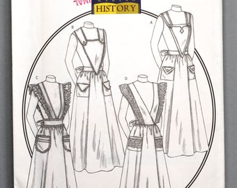 B4042 | OSZ | Butterick 4042 Womens Making History Costume Sewing Pattern Victorian Edwardian Aprons Cook Parlor Maid Housekeeper Farm Dairy