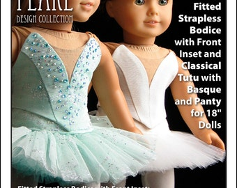 L&P #1073: Prima Ballerina Strapless Bodice and Classical (Pancake) Tutu with Basque and Panty — Dance Performance Pattern for 18 inch Dolls
