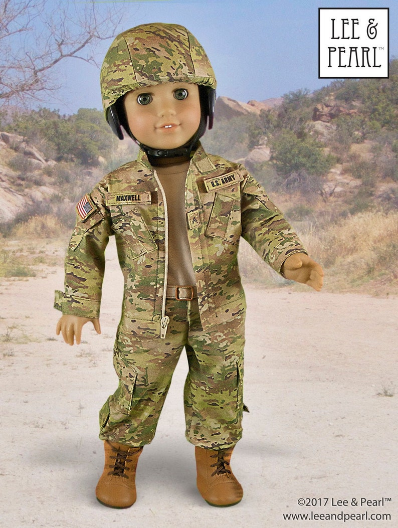 L&P 1010: Army Combat Uniform Pattern Bundle for 18 inch dolls image 0