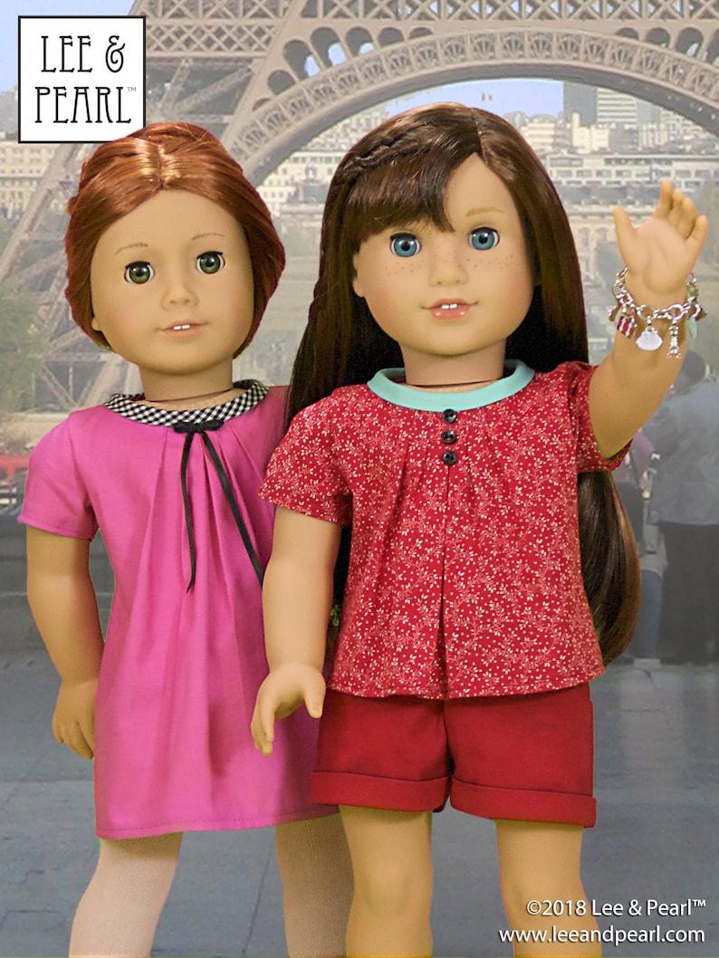 L&P 1033: Bonjour Paris Wardrobe Pattern for 18 inch dolls image 1