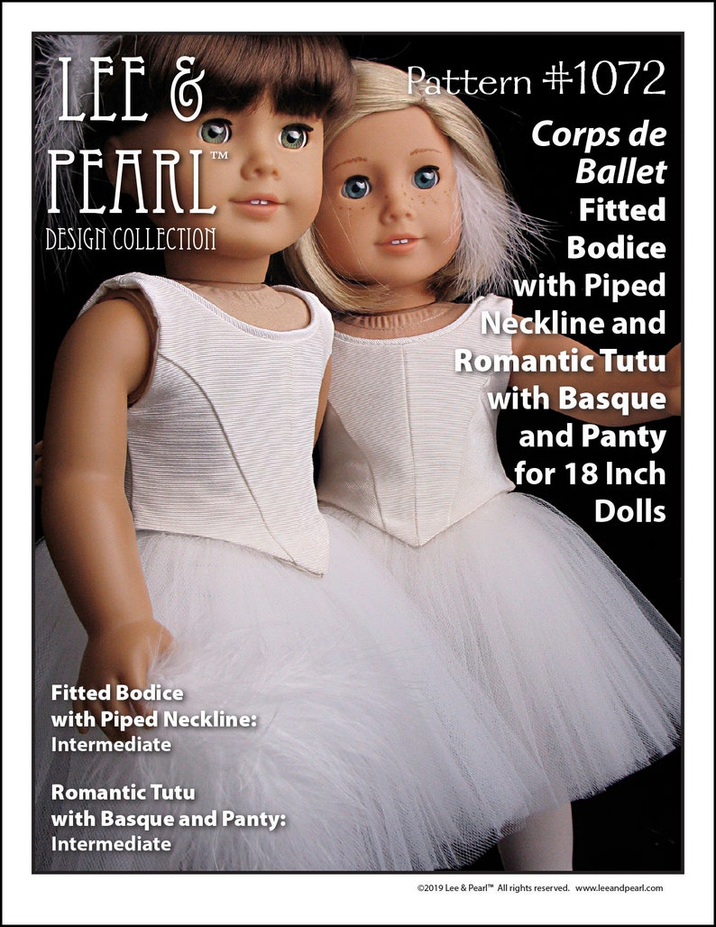 L&P 1072: Corps de Ballet Pattern for 18 inch dolls such as image 0