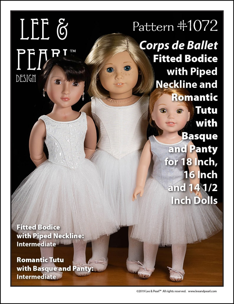 L&P 1072: Corps de Ballet Pattern for 18 Inch American Girl image 0