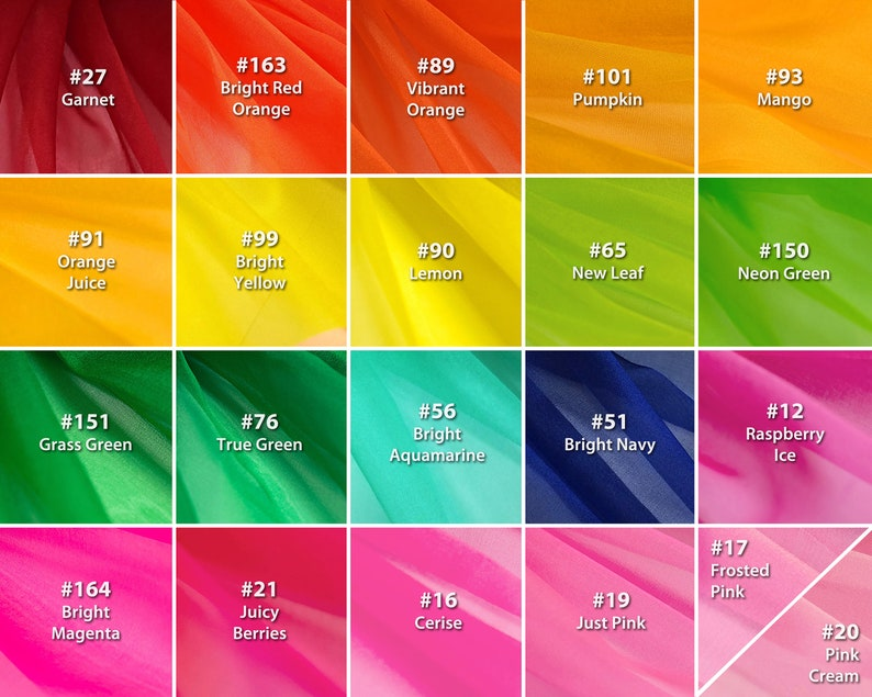 100% Silk Organza by the yard  OVER THE RAINBOW collection  image 0