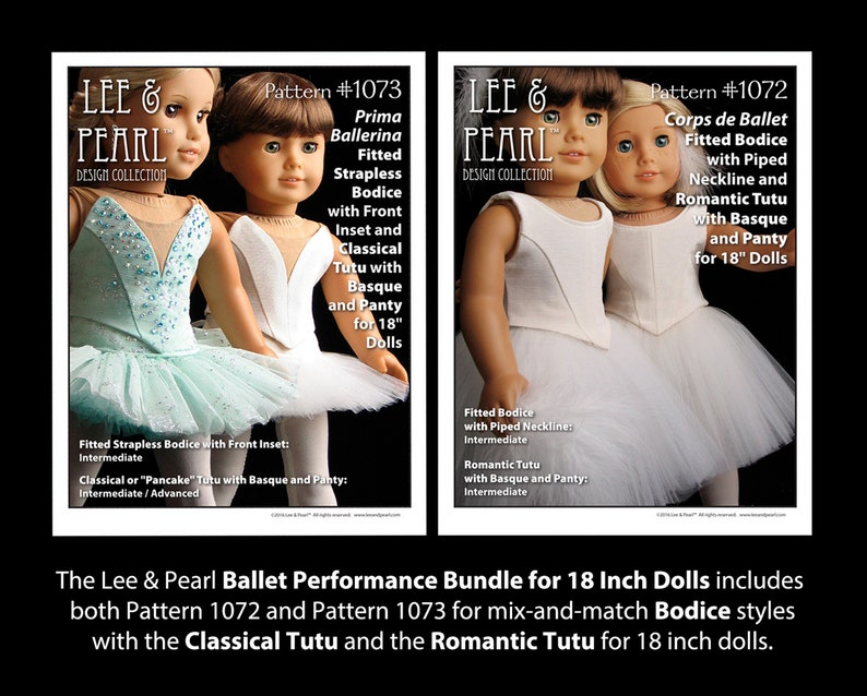 L&P Ballet Performance Bundle for 18 Inch Dolls such as image 0
