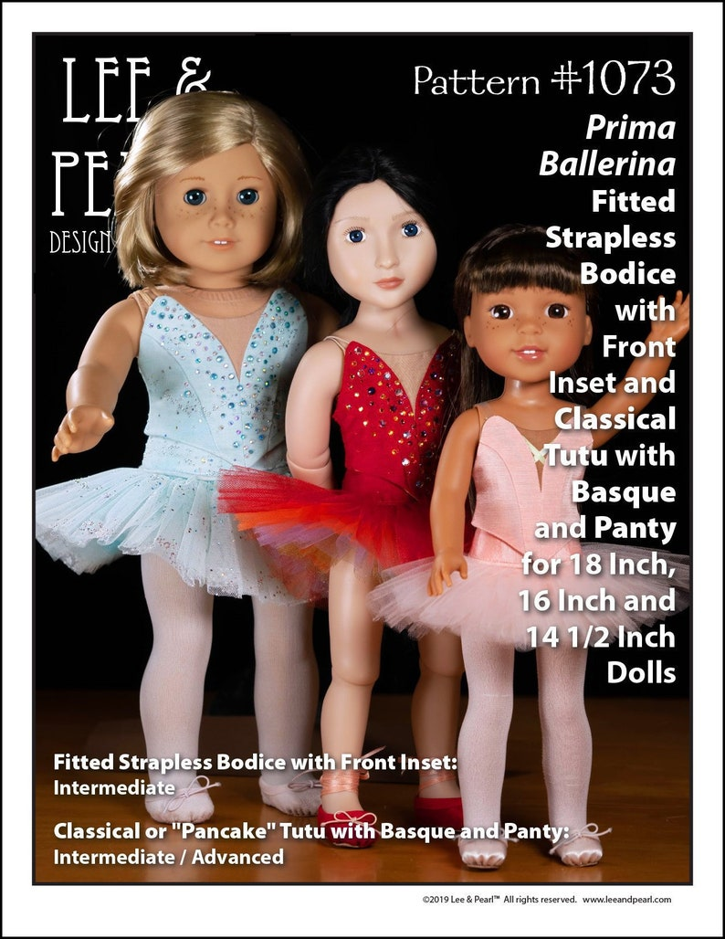 L&P 1073: Prima Ballerina Pattern for 18 Inch American Girl image 0