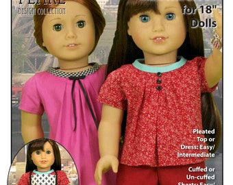 L&P #1033: Bonjour, Paris Wardrobe Pattern — Top, Dress, Shorts and Chef's Apron for 18 inch dolls, inspired by French fashions