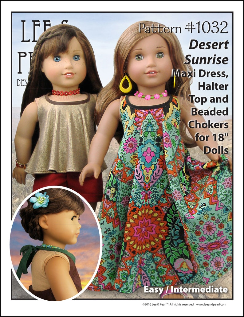 L&P 1032: Desert Sunrise Maxi Dress Halter Top and Beaded image 0
