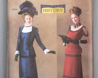 B4212 | size 18-20-22 | Butterick 4212 Womens Making History Costume Sewing Pattern Edwardian Titanic My Fair Lady Walking Suit Ball Gown