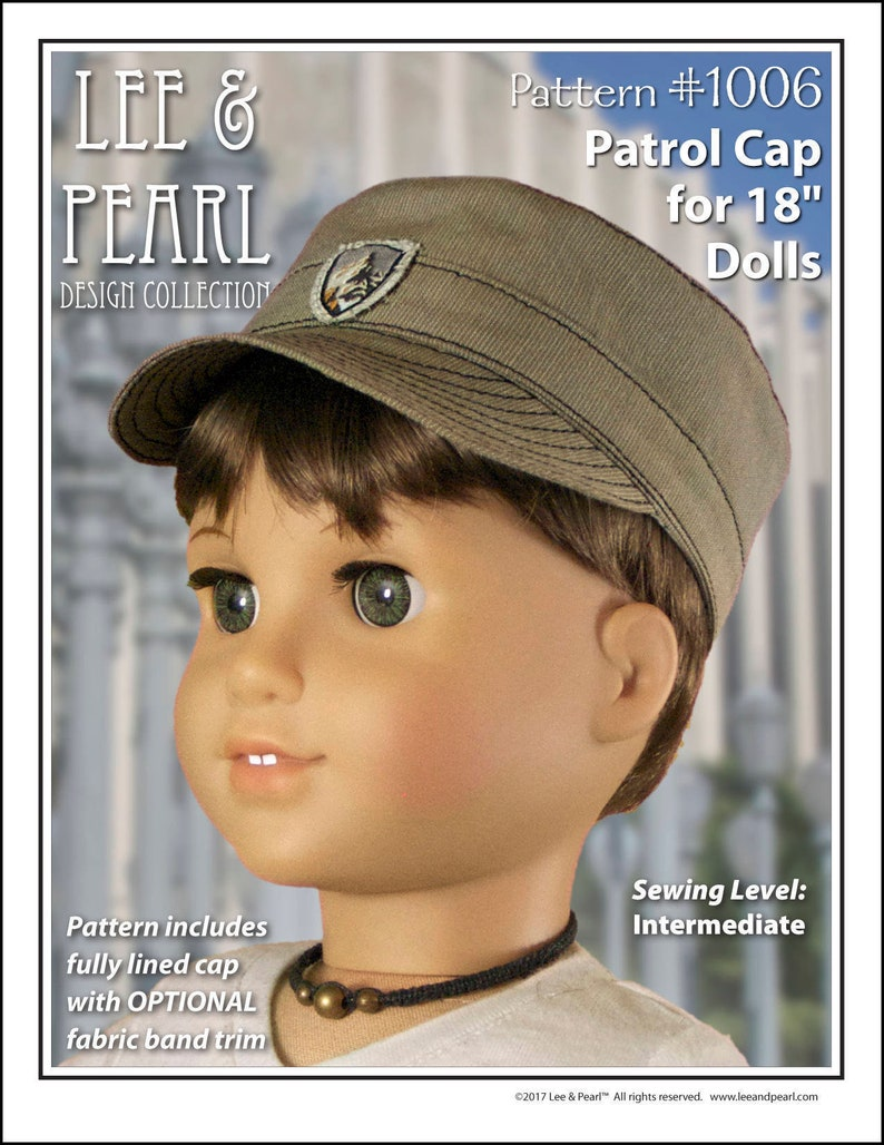 L&P 1006: Patrol Cap Pattern for 18 Inch Dolls such as image 0