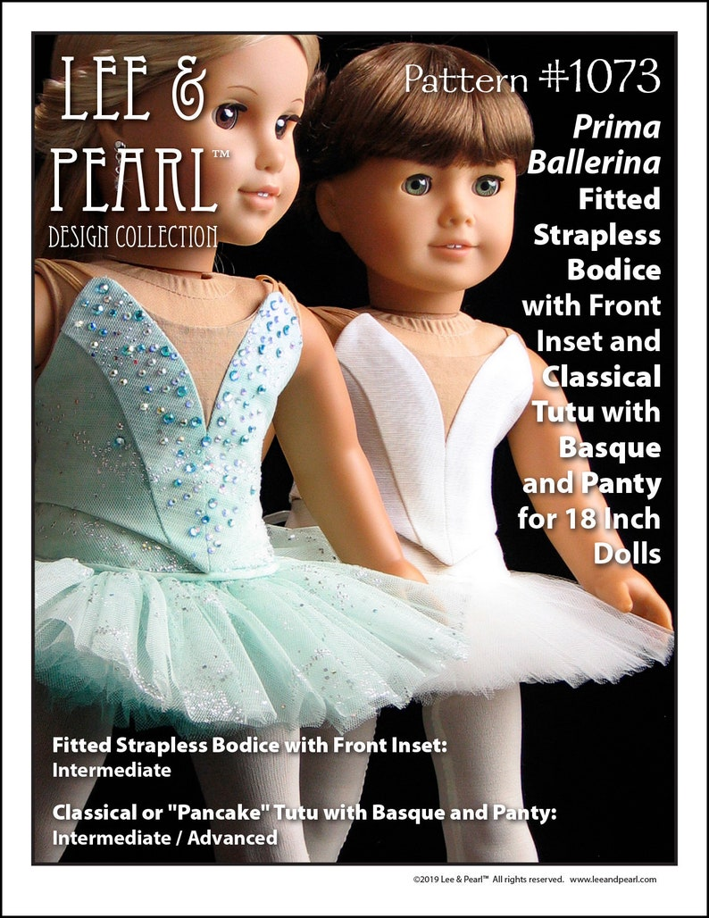 L&P 1073: Prima Ballerina Pattern for 18 inch dolls such as image 0
