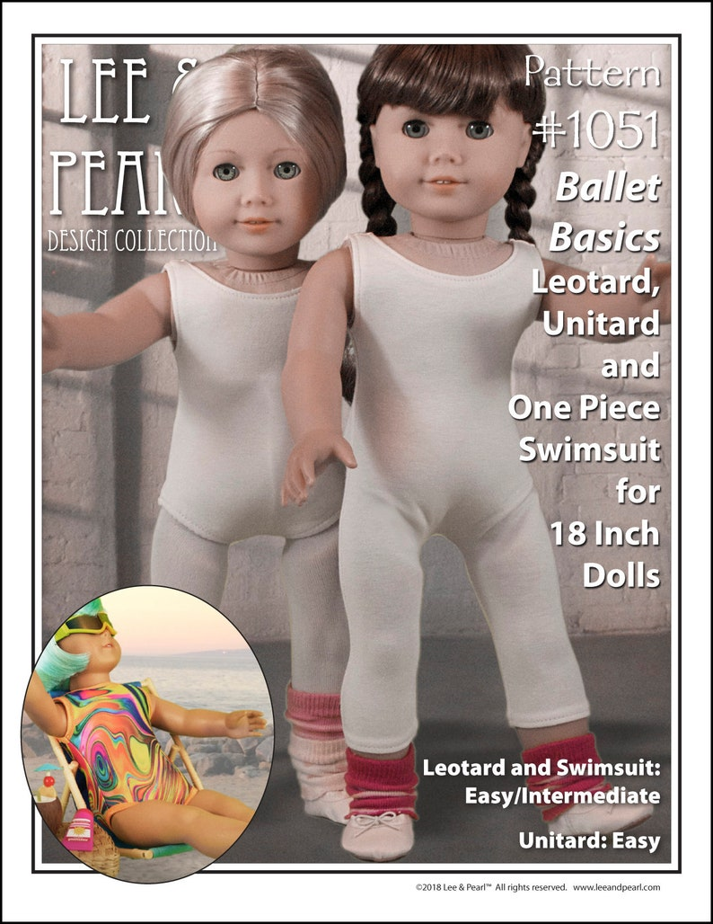 L&P 1051: Ballet Basics Pattern for 18 inch dolls such as image 0