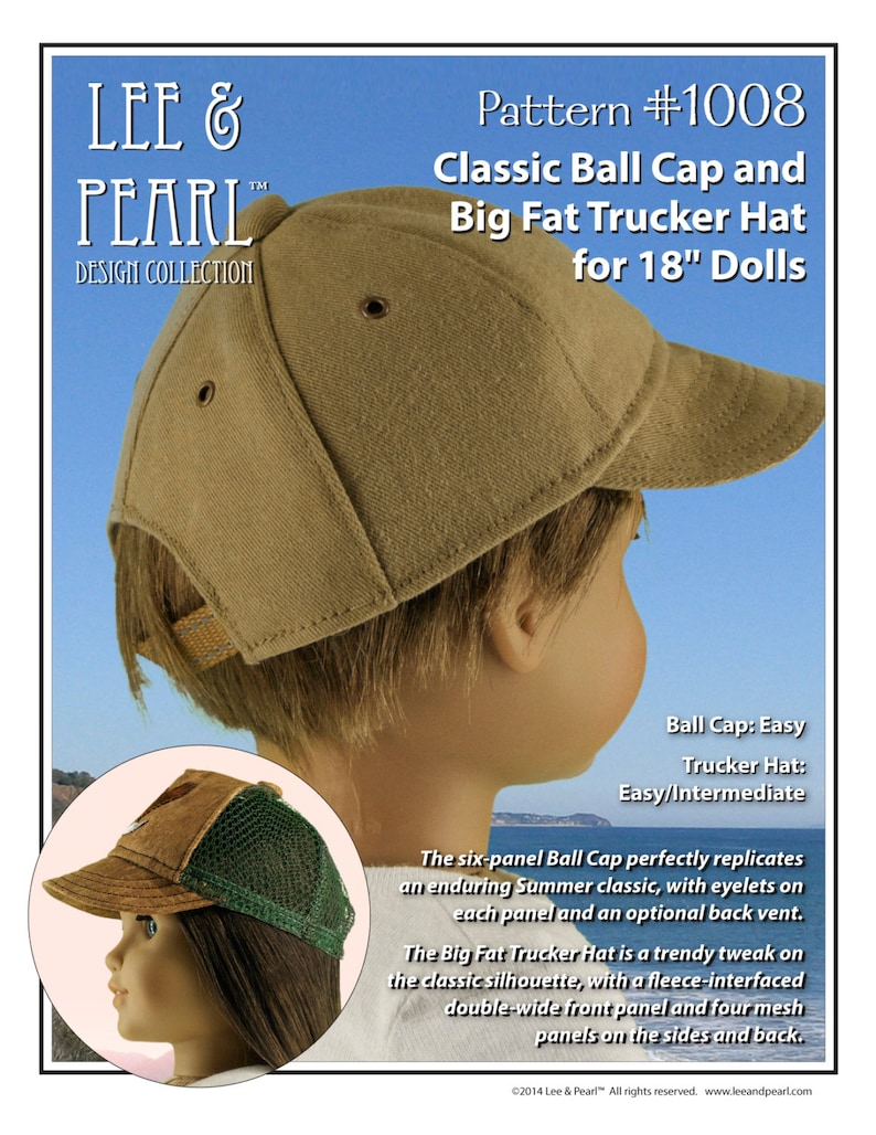 L&P 1008: Classic Ball Cap and Big Fat Trucker Hat Pattern for image 0