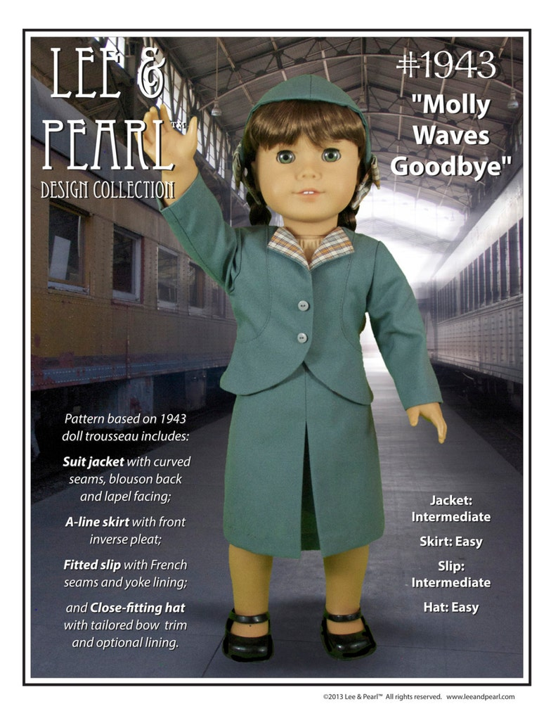 L&P 1943: Molly Waves Goodbye 1940s Suit for 18 inch dolls image 0