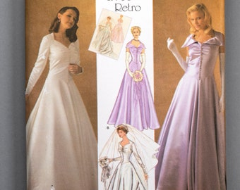 S4259 | 14-16-18-20-22 | Simplicity 4259 1950s Retro Women's Sewing Pattern Bridal Evening Bridesmaid Gown Sweetheart Neckline Dropped Waist