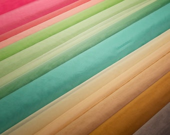SPRING GARDEN Kit 100% Silk Organza Curated Kit — Five Half Yards — Fabric for Couture Sewing, Dolls, Crafts, Flowers, Tambour Pojagi Hanbok