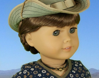"""L&P #1007: Bush Hat or """"Boonie"""" Pattern for 18 inch dolls - the perfect hat for all your doll's outdoor adventures"""