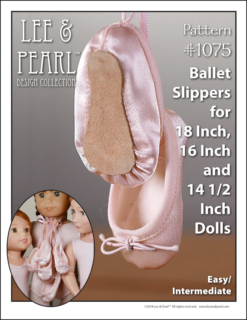 L&P 1075: Ballet Slippers Pattern for 18 Inch American Girl image 0