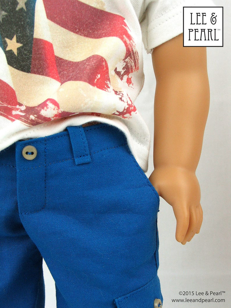 L&P 1004: Boy Style Pants and Cargo Shorts Pattern image 0