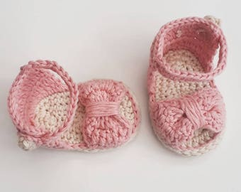 4bb5795f94f5 Baby girl clothes, baby girl booties, baby girl sandals, cotton baby booties,  baby girl gifts, baby shower, new baby gift, baby sandals