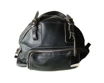 1ba8c481169d FURLA Black Leather Vintage Womens Handbag Collectible Purses Womans Purse  Fashion Accessory Furla Leather Handbags Furla Italy Purse