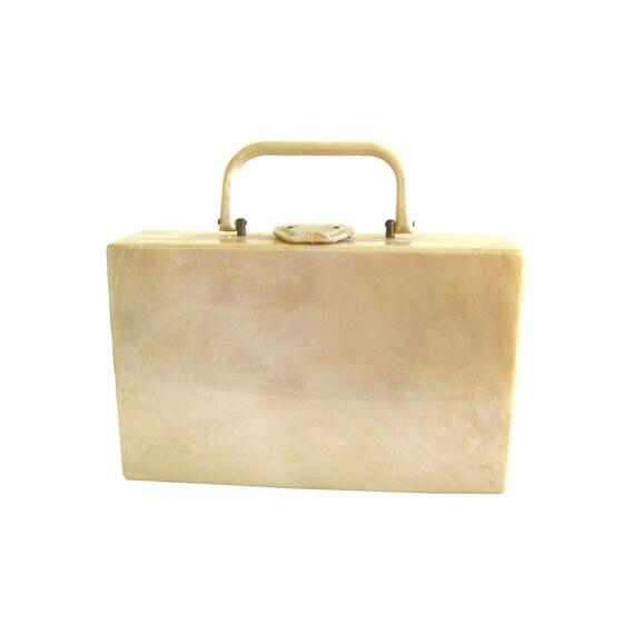 177a0929b0c6 Lucite Purse Vintage 50s Suitcase Purse Vintage Handbag