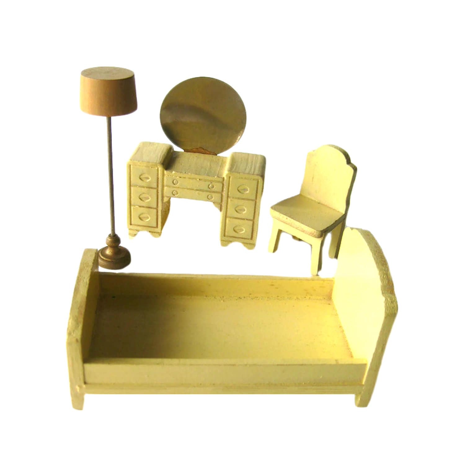 Super Strombecker Bedroom 4 Peice Set Vanity Bed Chair And Lamp Vintage Dollhouse Furniture Wooden Doll Furniture Dolls House Dollhouse Livingroom Machost Co Dining Chair Design Ideas Machostcouk