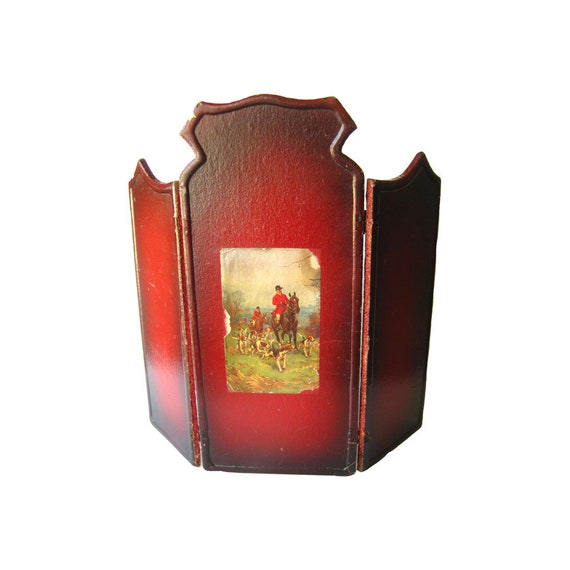Fox Hunting  Miniature  Dollhouse Doll House Picture