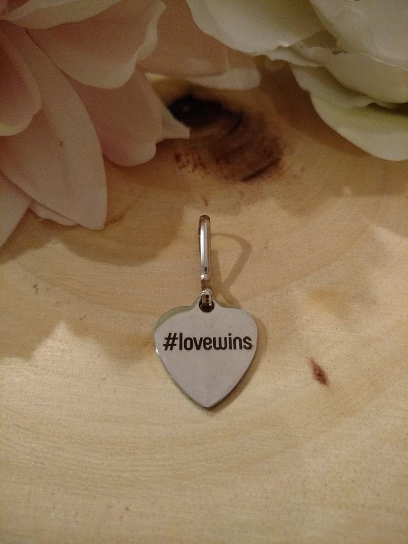 Love Wins Zipper Charm
