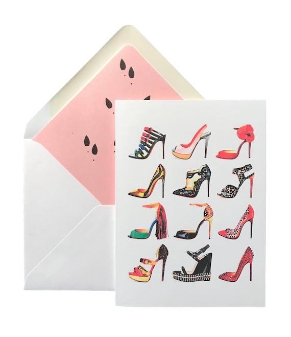 Shoe addict birthday card greeting cards high heels etsy image 0 m4hsunfo