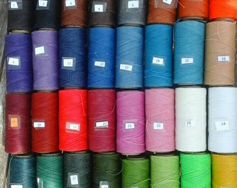 Waxed Linhasita Polyester Cord, 25 m / 82 ft length