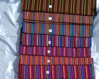 5 metres Stripy Peruvian Fabric (shipped from Peru)