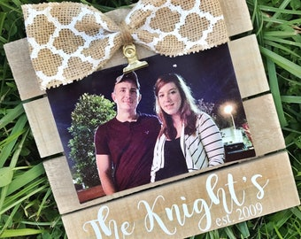 Rustic Personalized Family/Established Home Pallet Picture Frame