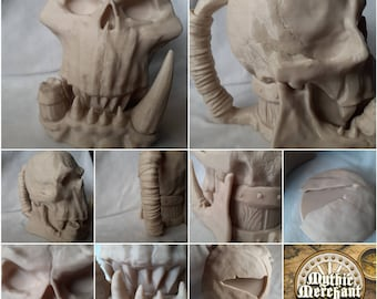 Orc Skull Mug - Threaded Mug - Dice Box - Lids - Mythic Mugs